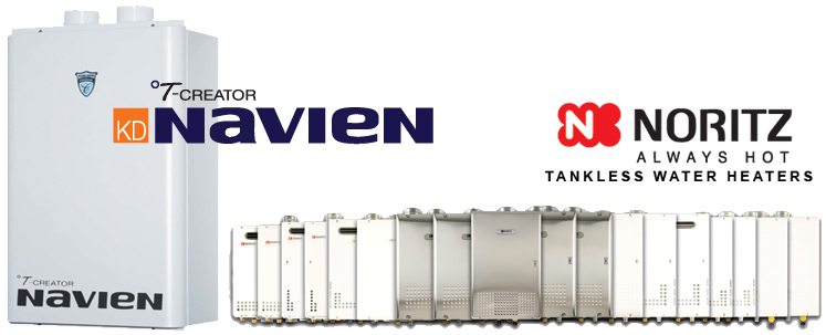 Navien and Noritz Tankless Water Heaters